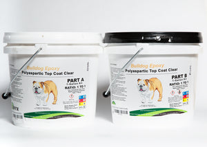 Bulldog Epoxy Polyaspartic Top Coat Clear 2 Gal Kit