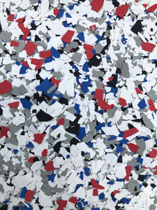 "50 Lbs. of 1/4"" America Paint Chips (Standard Paint Chips)"