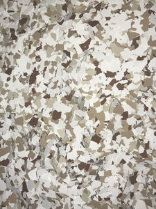"30 Lbs. of 1/16"" Almond Paint Chips (Micro Paint Chips)"