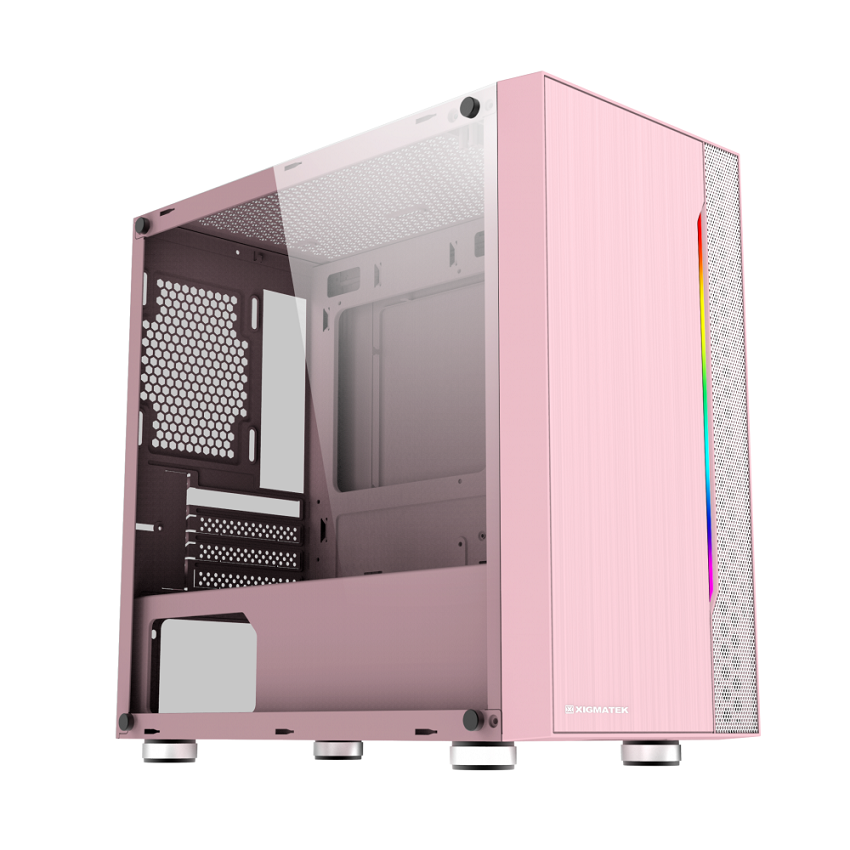 Case Xigmatek Gemini Queen (Mini Tower/Màu Hồng) EN43835