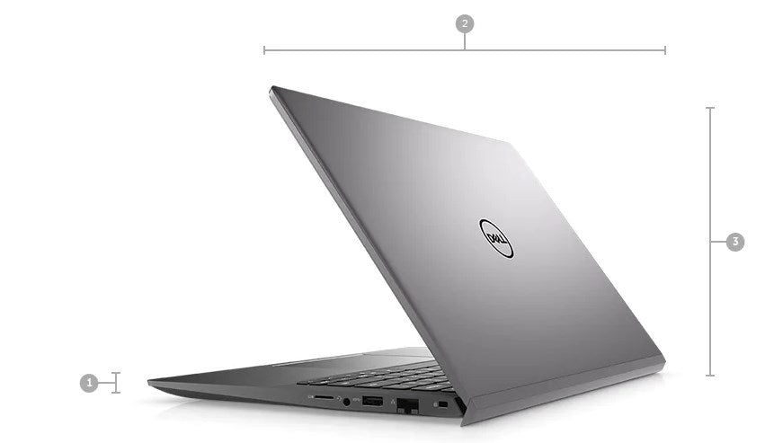 Laptop dell Vostro 5402- V4I5003W-Gray (Cpu i5-1135G7 (2.4Ghz, 8Mb up to 4.2Ghz), Ram 8gb 3200Mhz DDR4, Ssd 256Gb M.2 PCIe NVMe, 14.0 inch FHD, Win10)