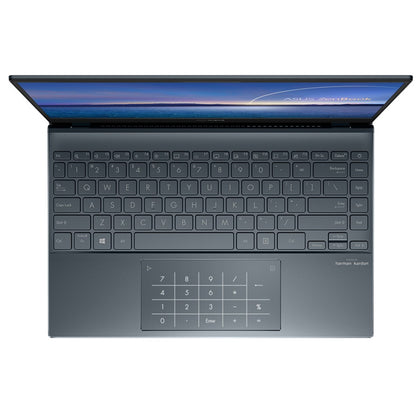 Laptop Asus Zenbook UX325EA-EG079T Xám (Cpu i5 - 1135G7 (2.4Ghz up to 4.2 Ghz), Ram 8GB 3200 DDR4, SSD 256GB M2. PCIe , Vga Iris Xe Graphics, Win10, mouse, balo)