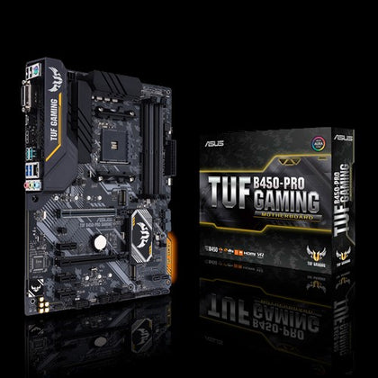 MAINBOARD ASUS TUF B450-PRO GAMING for AMD RYZEN am4, DDR4x4, HDMI & DP