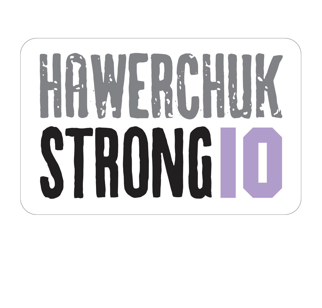 Hawerchuk Strong Helmet Decal (5 pack)