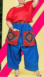 Boho Chic Denim Harem Pants