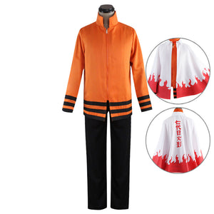 7th Hokage Uzumaki Naruto from Naruto Halloween Cosplay Costume