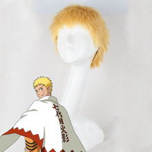 Load image into Gallery viewer, 7th Hokage Uzumaki Naruto from Naruto Halloween Golden Cosplay Wig