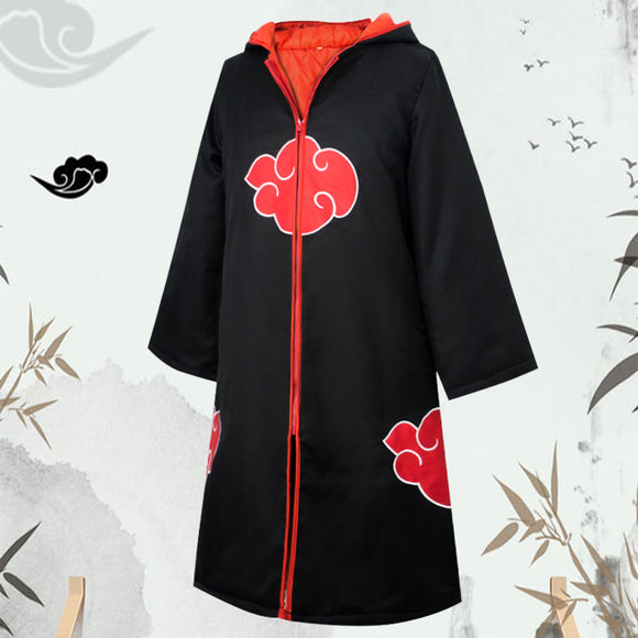 Akatsuki Sasuke Uchiha from Naruto Halloween Coat Cosplay Costume