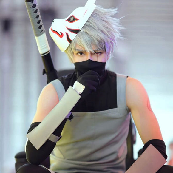 Anbu's Hatake Kakashi from Naruto Halloween Cosplay Costume