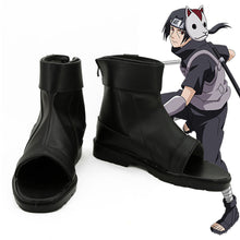 Load image into Gallery viewer, Anbu's Itachi Uchiha from Naruto Halloween Black Cosplay Shoes
