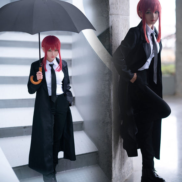 Chainsaw Man Makima Halloween Cosplay Costume - Including Coat