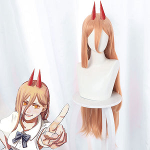 Chainsaw Man Power Orange Cosplay Wig