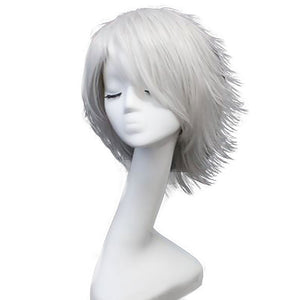 Darui from Naruto Halloween Silver Grey Cosplay Wig