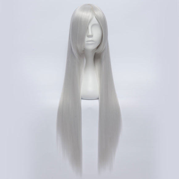 Female Kakashi Hatake from Naruto Halloween Silver A Edition Cosplay Wig