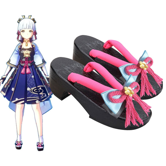 Genshin Impact Ayaka Black Cosplay Shoes