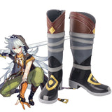 Genshin Impact Razor Brown Shoes Cosplay Boots