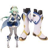 Genshin Impact Sucrose White Shoes Cosplay Boots