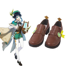 Load image into Gallery viewer, Genshin Impact Venti Brown Cosplay Shoes