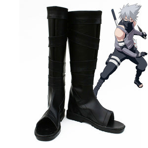 Hatake Kakashi from Naruto Halloween Black Shoes Cosplay Boots