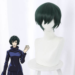 Jujutsu Kaisen Sorcery Fight Mai Zenin Green Cosplay Wig