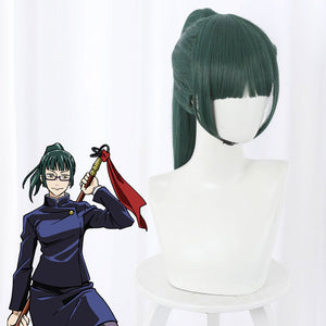 Jujutsu Kaisen Sorcery Fight Maki Zen'in Green Cosplay Wig