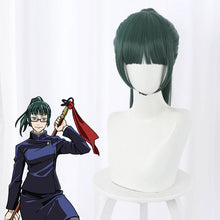 Load image into Gallery viewer, Jujutsu Kaisen Sorcery Fight Maki Zen'in Green Cosplay Wig