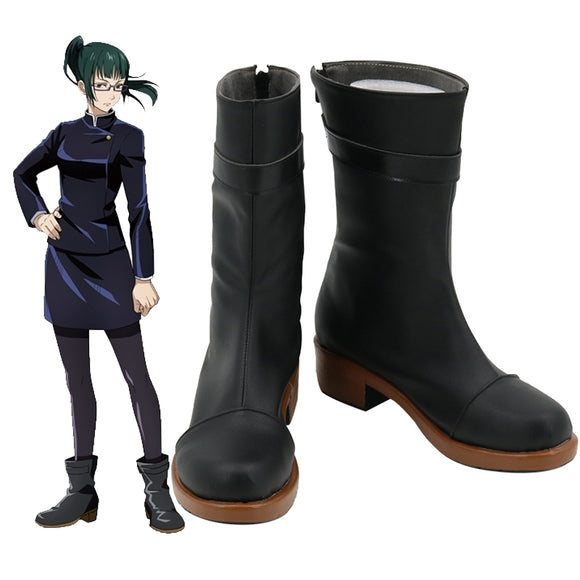 Jujutsu Kaisen Sorcery Fight Maki Zenin Black Cosplay Shoes