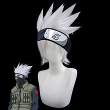 Load image into Gallery viewer, Kakashi Hatake from Naruto Halloween Silver White Cosplay Wig