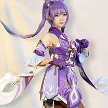 Load image into Gallery viewer, Keqing from Genshin Impact Halloween Cosplay Costume