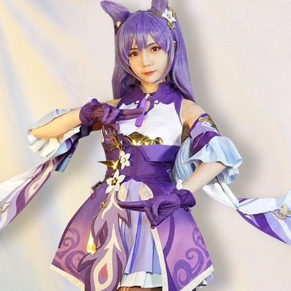 Keqing from Genshin Impact Halloween Cosplay Costume