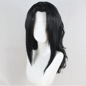 Kurenai Yuhi Sarutobi Kurenai from Naruto Halloween Black Cosplay Wig
