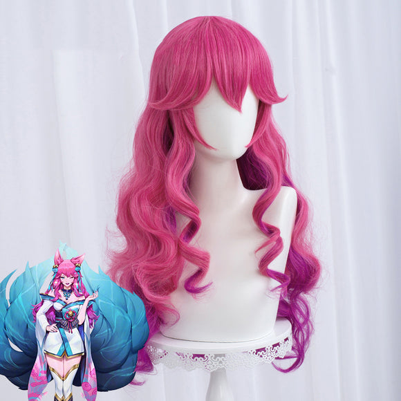 League of Legends LOL Spirit Blossom Ahri Halloween Purple Cosplay Wig