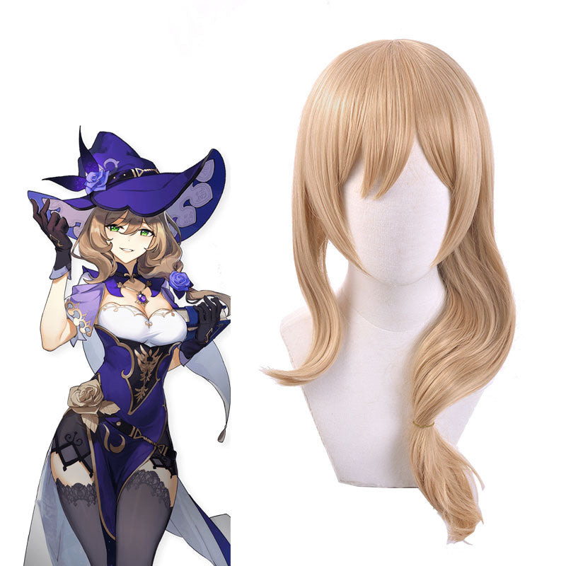 Lisa from Genshin Impact Halloween Golden Cosplay Wig