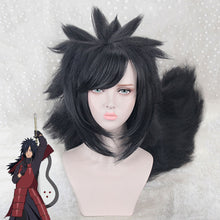 Load image into Gallery viewer, Madara Uchiha from Naruto Halloween Black Cosplay Wig