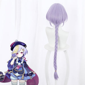 Qiqi from Genshin Impact Halloween Purple Cosplay Wig