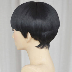 Rock Lee from Naruto Halloween Black Cosplay Wig