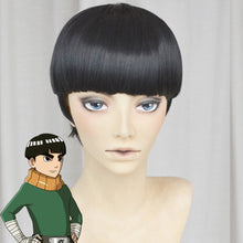 Load image into Gallery viewer, Rock Lee from Naruto Halloween Black Cosplay Wig