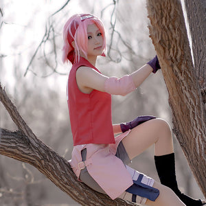 Sakura Haruno from Naruto Halloween Cosplay Costume