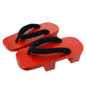 Shippuuden Jiraiya from Naruto Halloween Red Cosplay Shoes