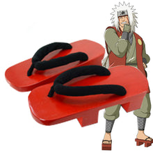 Load image into Gallery viewer, Shippuuden Jiraiya from Naruto Halloween Red Cosplay Shoes