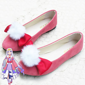 Sleepy Princess In The Demon Castle Princess Syalis Pink Cosplay Shoes