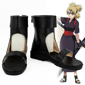 Temari from Naruto Halloween Black Cosplay Shoes
