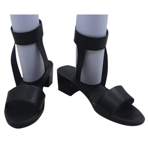Tsunade from Naruto Halloween Black Cosplay Shoes