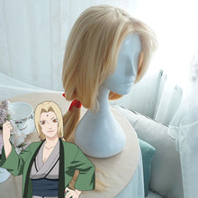 Load image into Gallery viewer, Tsunade from Naruto Halloween Golden Cosplay Wig