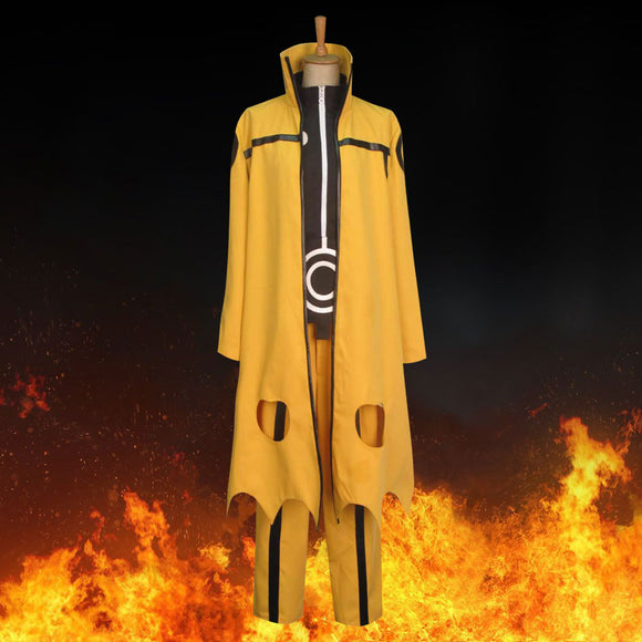 Uzumaki Naruto Nine-Tails Bijuu Mode from Naruto Halloween Cosplay Costume