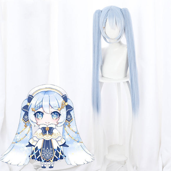 Vocaloid 2021 Snow Miku Hatsune Miku Halloween Blue Cosplay Wig