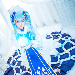 Vocaloid 2021 Snow Miku Hatsune Miku Halloween Cosplay Costume