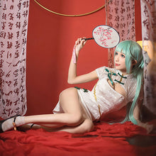 Load image into Gallery viewer, Vocaloid Hatsune Miku Shaohua Cheongsam Halloween Cosplay Costume