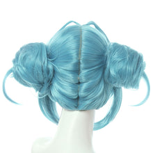 Load image into Gallery viewer, Vocaloid Hatsune Miku White Bunny Girl White Rabbit Blue Cosplay Wig