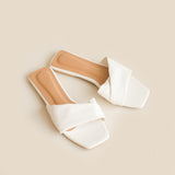 Gemma Slipper | White